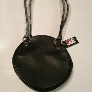 Handbags - Women's Shoulder Purse Black with Red Interior Nwt